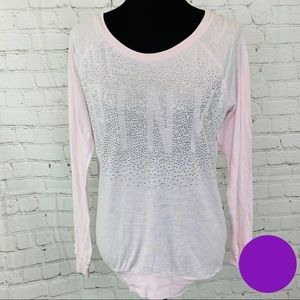 PINK Victorias Secret Studded Tunic Top Spellout S
